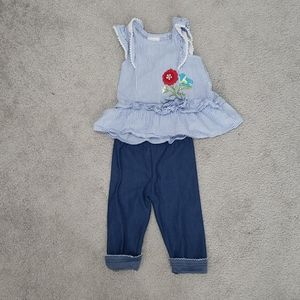Girls set short sleeve set